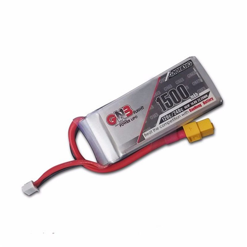 High Quality Rechargeable Lipo Battery Gaoneng GNB 14.8V 1500mAh 4S 120C/240C Lipo Battery For FPV Racing