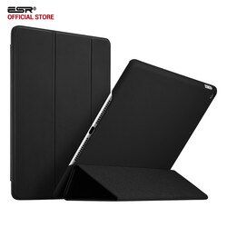 Case for iPad 2017, ESR Rubber Oil Cover PU leather Ultra Slim Fit Light weight Smart Case Rubberized Case for New iPad 2018