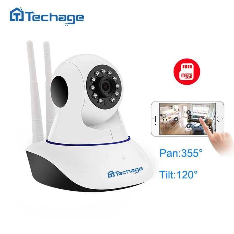 Techage Home Security 720P 1080P Wifi IP Camera Audio Record SD Card P2P HD CCTV Surveillance Wireless Camera Baby Monitor