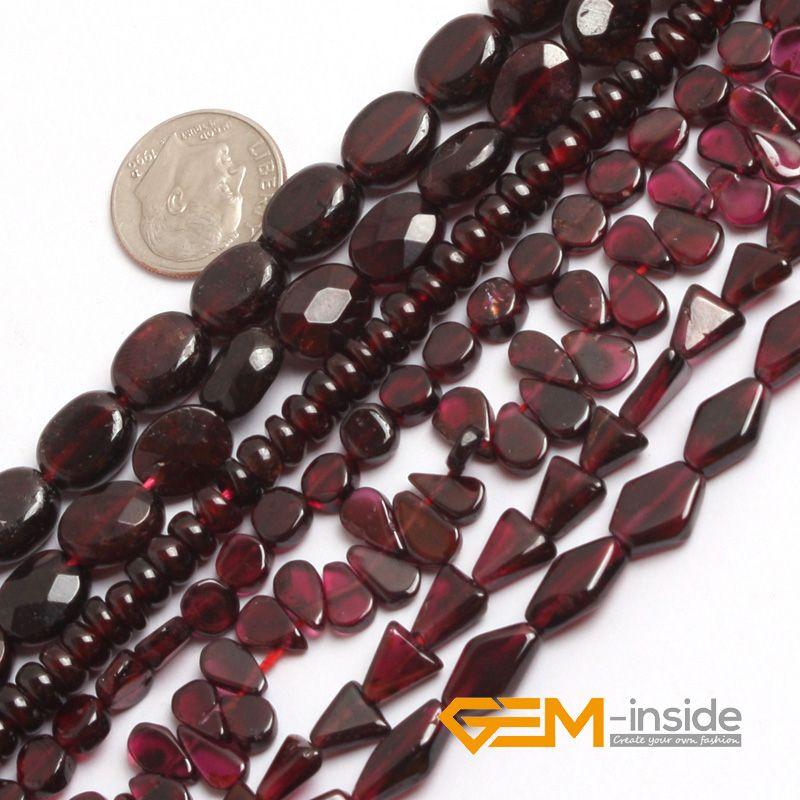 Perles en forme de grenat forme libre perles en pierre naturelle bricolage perles en vrac pour la fabrication de bijoux perles Strand 15