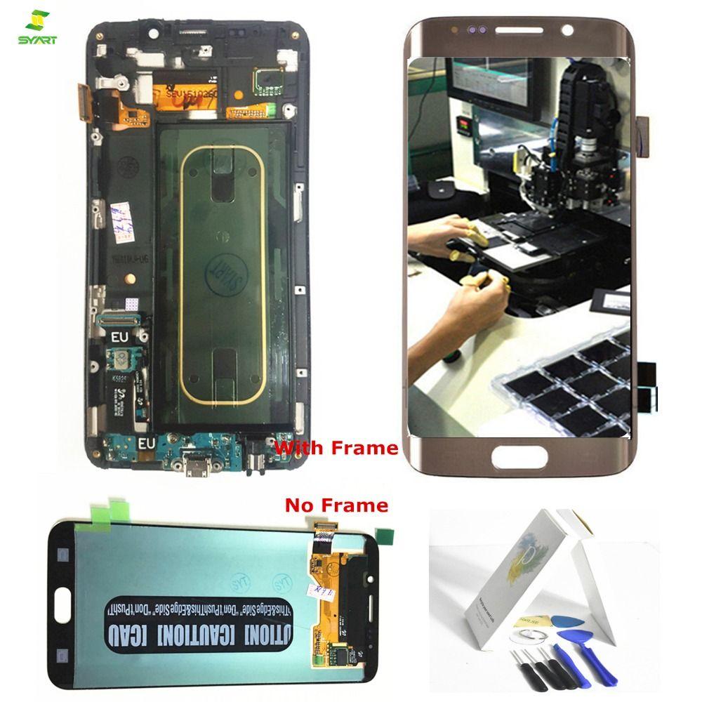 S6 Rand Plus Bildschirm Für Samsung Galaxy S6 Rand Plus G928 G928F LCD Display Touchscreen Digitizer Komplette Montage 5,7 blau