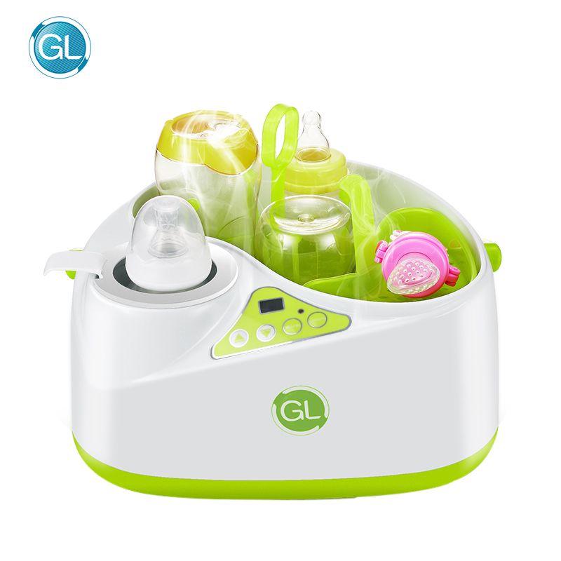 GL Multifunktions 2 in 1 Flasche Sterilisator Flasche Wärmer Milch Thermostat Dampf Desinfektion Maschine Baby Trinken Wasser Heizung
