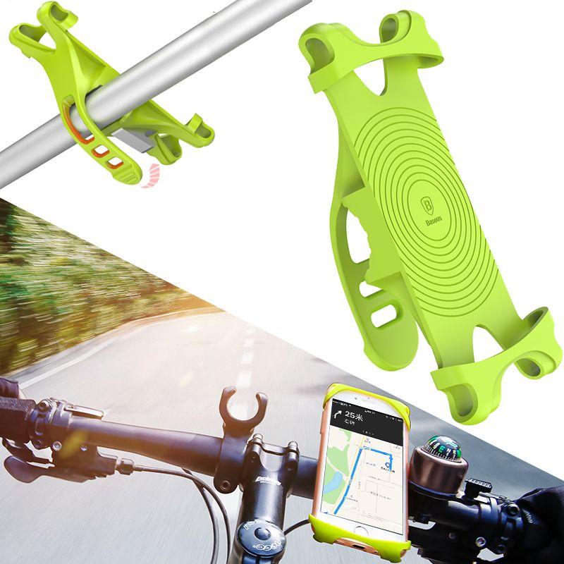 Baseus 4~6 inch Bike Phone Holder For Smart Mobile Cell Phone Holder Bike Handlebar Mount Bracket GPS Stand Bicycle Phone Holder