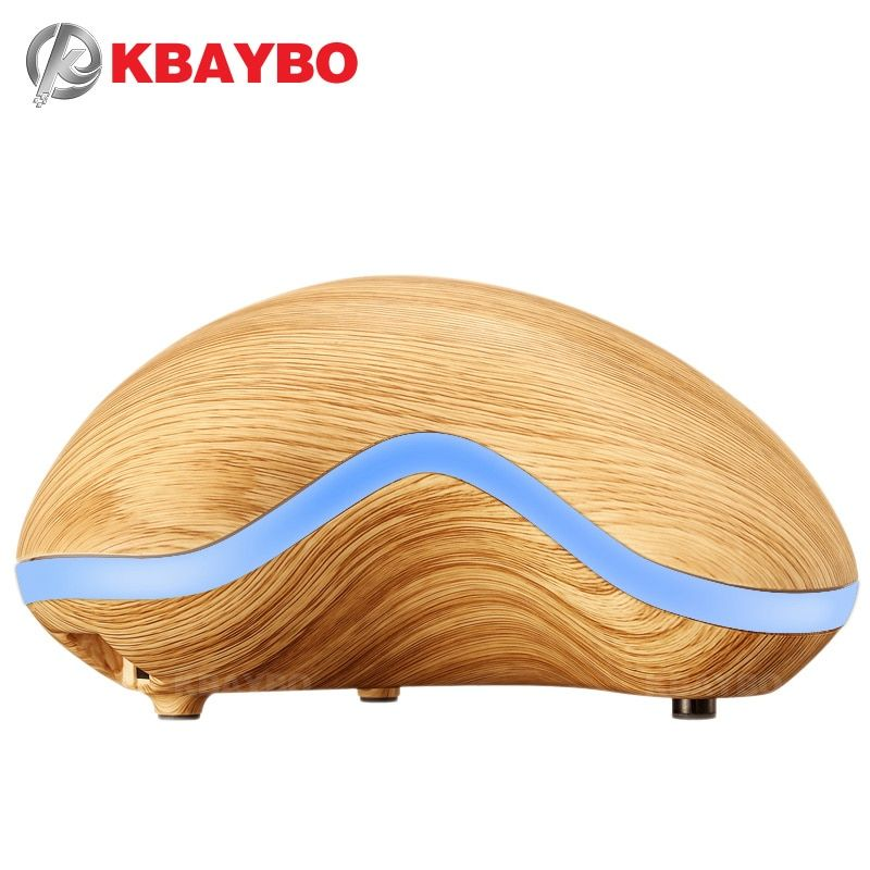 150ml Aroma Essential Oil Diffuser Wood Grain Ultrasonic Cool Mist Humidifier for Office Home Bedroom Living Room Study Yoga Spa