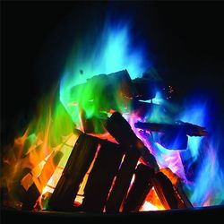 15g Mystical Fire Magic Tricks Coloured Flames Bonfire Sachets Fireplace Pit Patio Color Toy Professional Magicians Pyrotechnics
