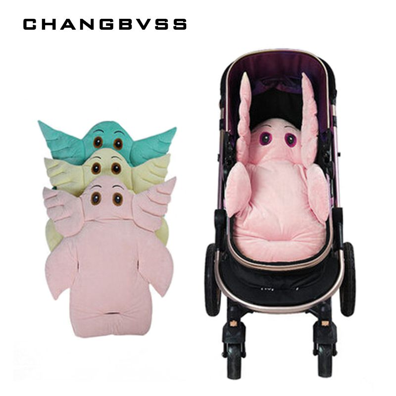 High Quality Stroller Mat for Kids Cart Cotton,Dining Chair Mattress Mat,Baby Infant Stroller Seat Pushchair Cushion,Pink,Green