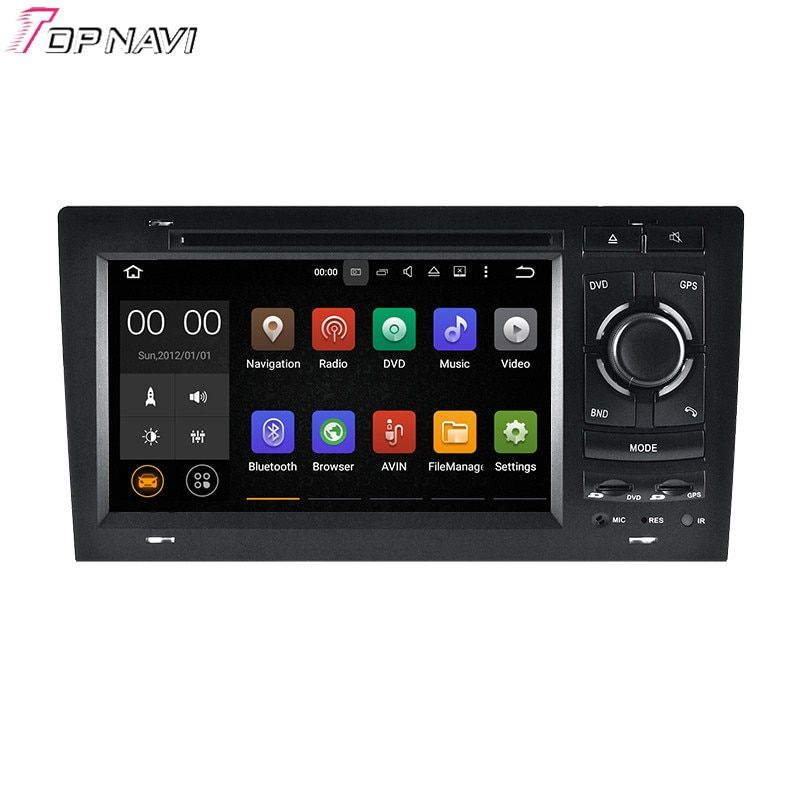 TOPNAVI 7 ''Quad Core Android 7.1 Auto DVD-Multimedia-Player für A8 1994-2003/S8 1994-2003 für Audi GPS Navigation Radio