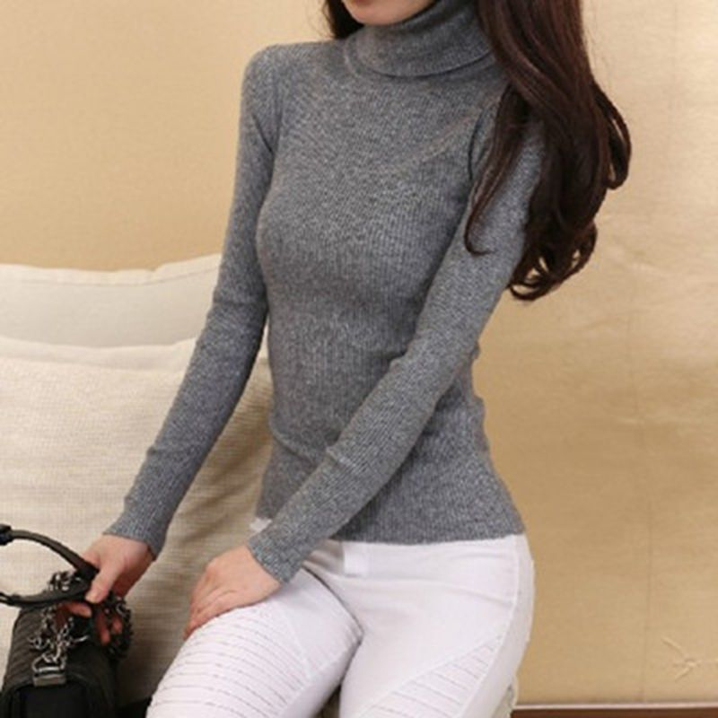 Winter Sweaters Women <font><b>Cashmere</b></font> Knitwear Hot Sale Turtleneck Jumpers Woolen Pullovers Tops Ladies Thick Knitting Standard Clothes