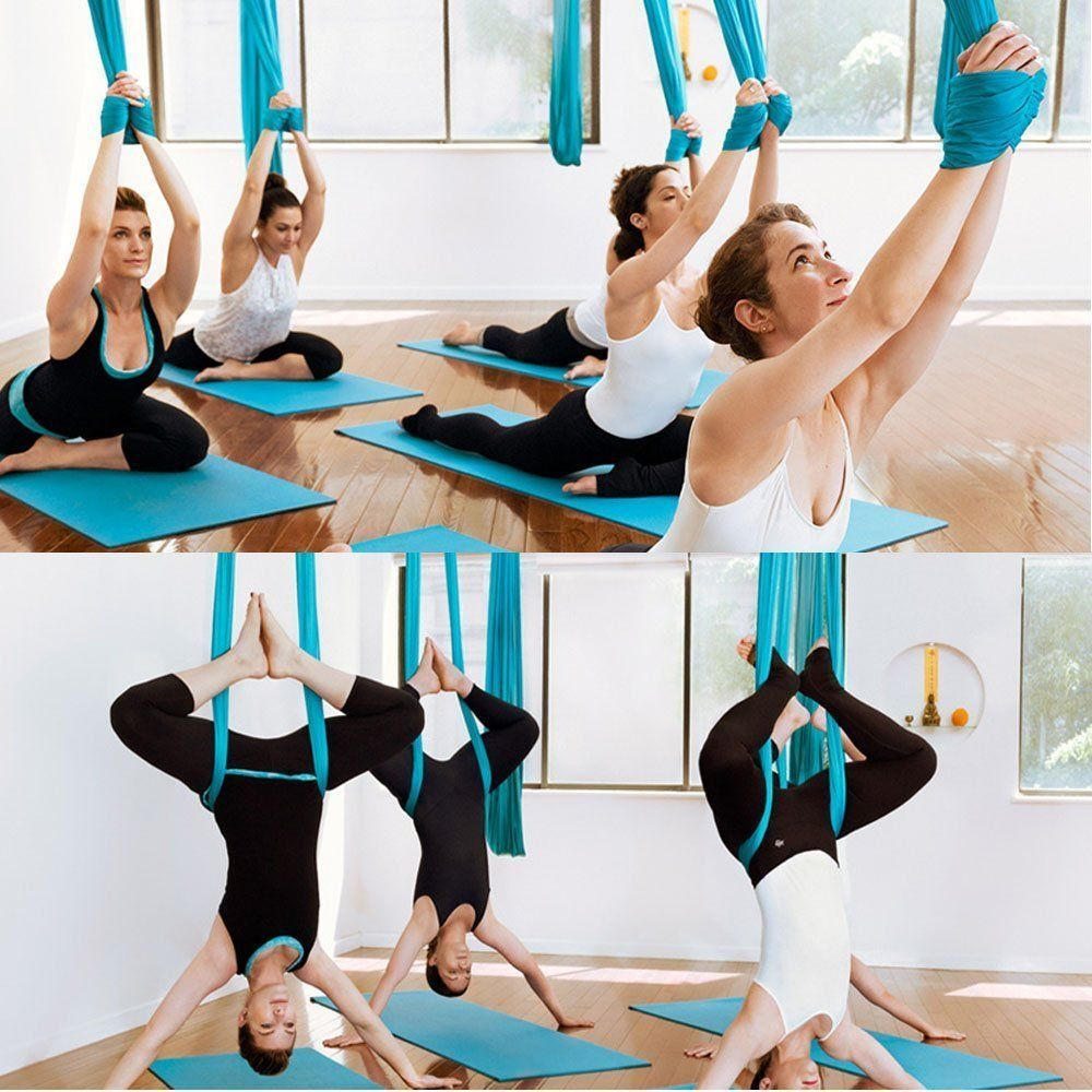 5 Meters 2017 Aerial Yoga Hammock Swing Latest Multifunction Anti-gravity Yoga Belts Yoga Strap for Yoga Training