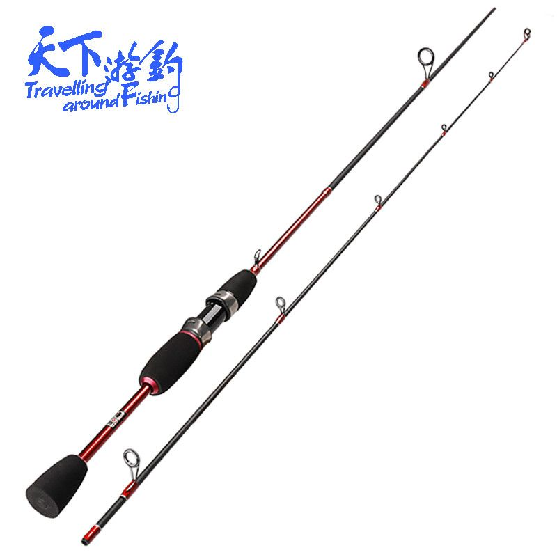 UL 1.8m Ultralight Spinning Rods 0.8-5g Lure Weight 2Tip Ultra Light Lure Fishing Rod Carp Pole 2-5LB Line Weight Vara De Pescar
