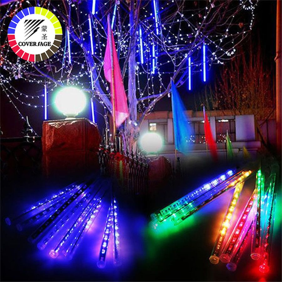 Coversage Fairy 50CM Led Meteor Garden Garland Christmas Tree Luces Navidad Xmas Decorative Lights Outdoor Fairy Lights