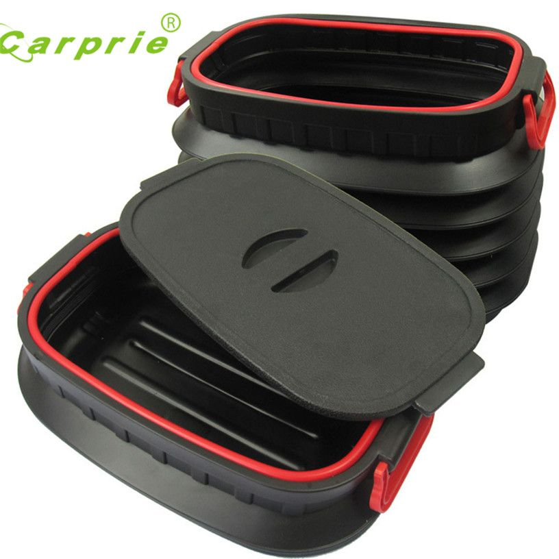 Dropship Hot Selling 18L Car Trunk Foldable Rubbish Container Portable Plastic Water Barrel Organizer Box Gift Jul 28