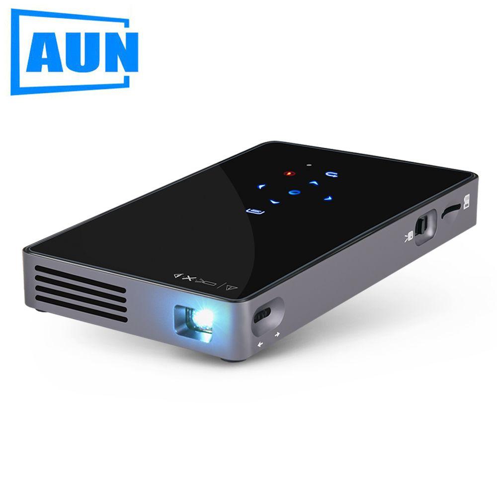 Marke AUN Android 7.1. Smart Projektor (Optional 2G + 32G Speicher) mit WIFI, Bluetooth. MINI Video Projektor D5S (Optional D5 weiß)
