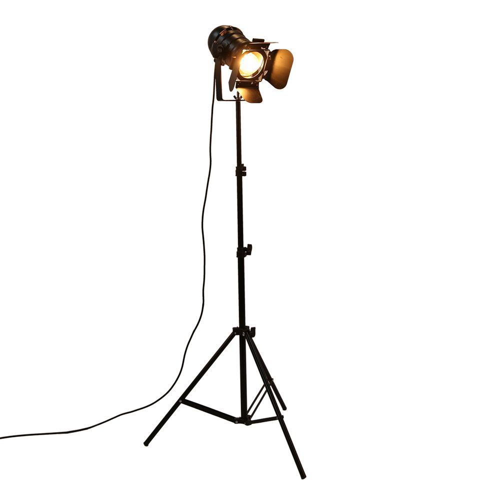 Industrial Bar Creative <font><b>Studio</b></font> Retro Tripod Black Floor Lamp Lights Room Light Stand OY16F01 Free shipping