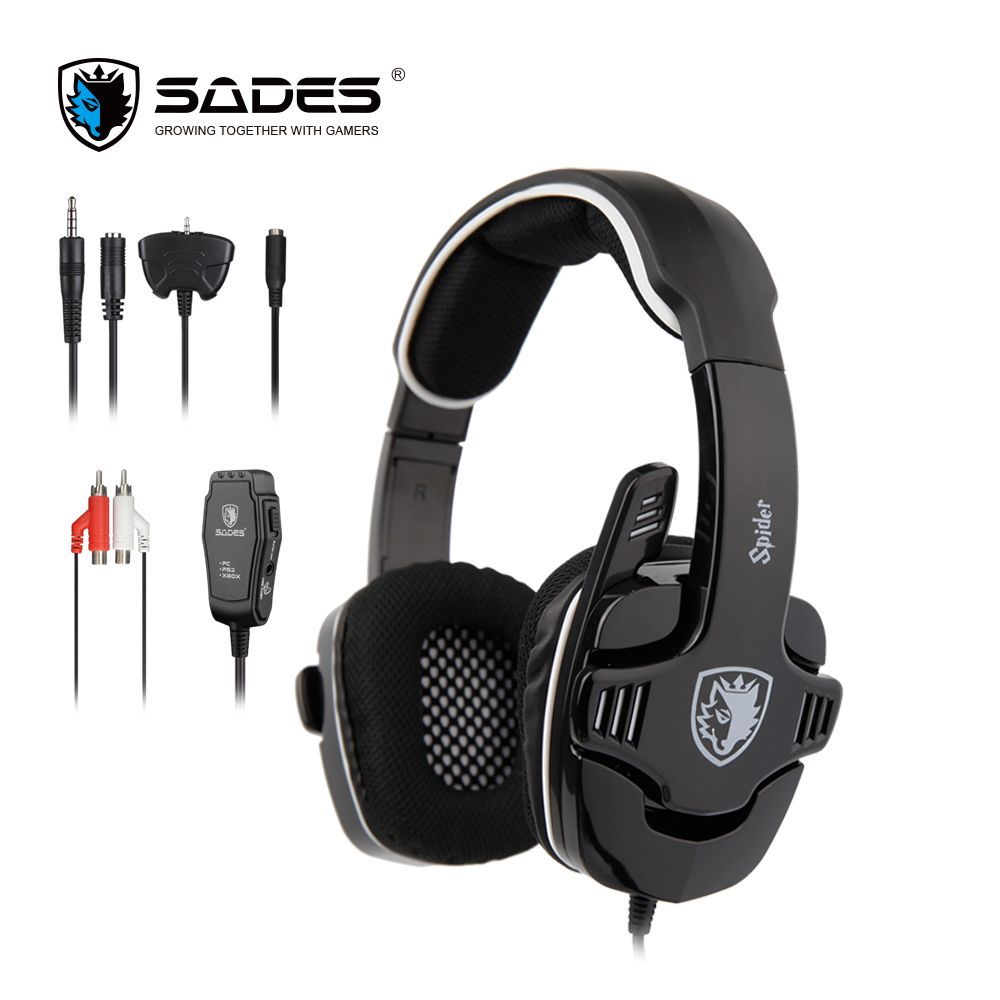 SADES Spider Stereo Sound Gaming Headset <font><b>3.5mm</b></font> Gamer Headphones For Phones Xbox/PS4