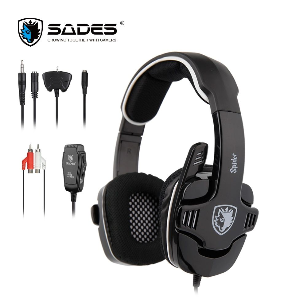 SADES Spider Stereo <font><b>Sound</b></font> Gaming Headset 3.5mm Gamer Headphones For Phones Xbox/PS4