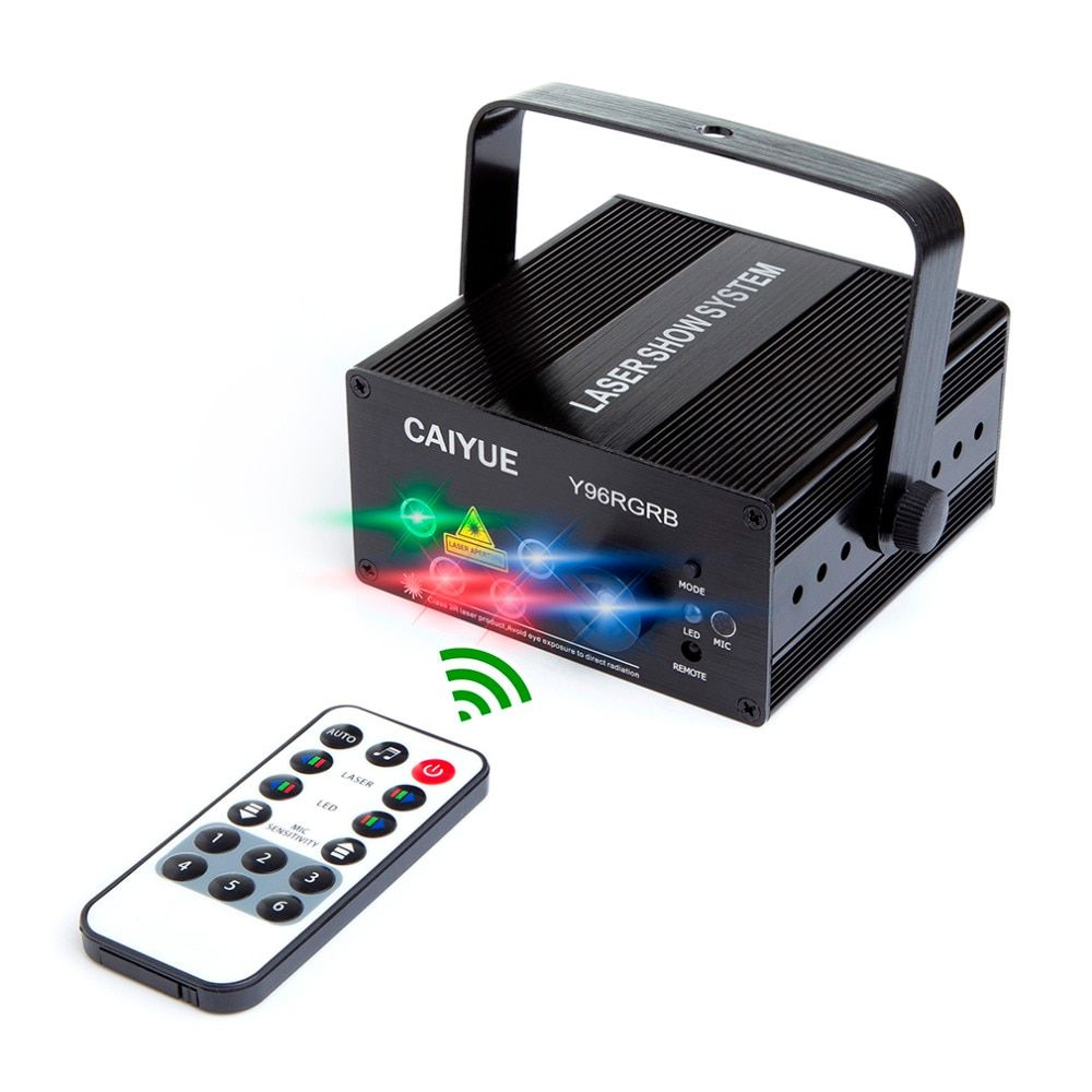 Новый 96 моделей RGB свет диско Светодиодное освещение стадии лазерного 5 объектив мини-проектор синий красный зеленый эффект шоу DJ партии