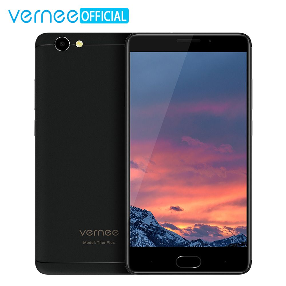 Vernee Thor Plus Mobile Phone 6200mAh Android 7.0 MT6753 Octa Core Cellphone 5.5 Inch 3GB RAM 32GB ROM 4G Lte 13MP Cellphone