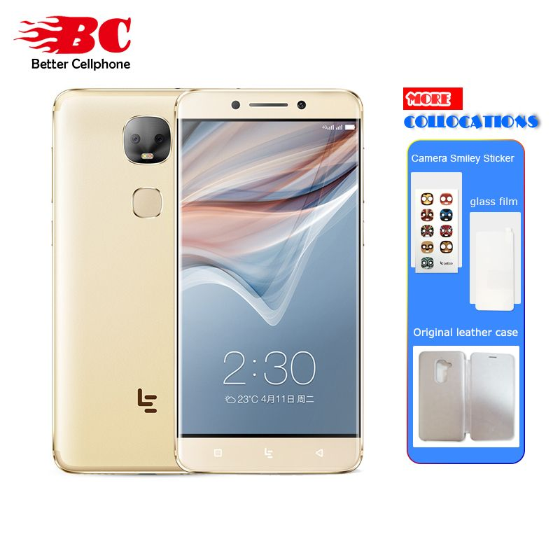 New Letv Leeco Le Pro 3 X651 Dual AI Camera Mobile Phone Android 6.0 4G FDD-LTE Helio X23 Ten core 5.5 Inch 4G+32G <font><b>13MP</b></font> 4000mAh