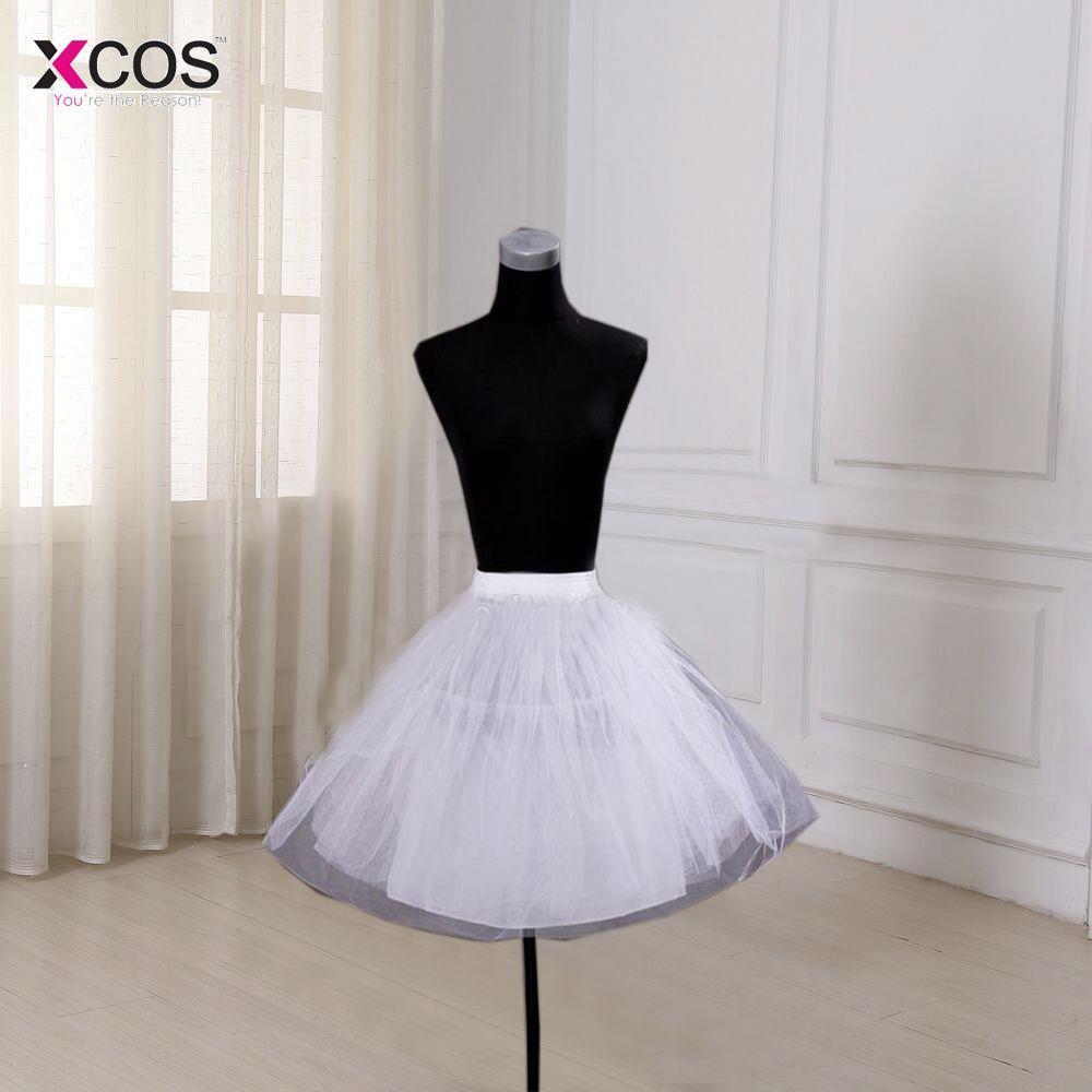 Blanco Niñas Tul Petticoat Slip Con No Hoop Corto Enaguas del vestido de Bola Vestido de Novia 2016 Nuevo de la Llegada