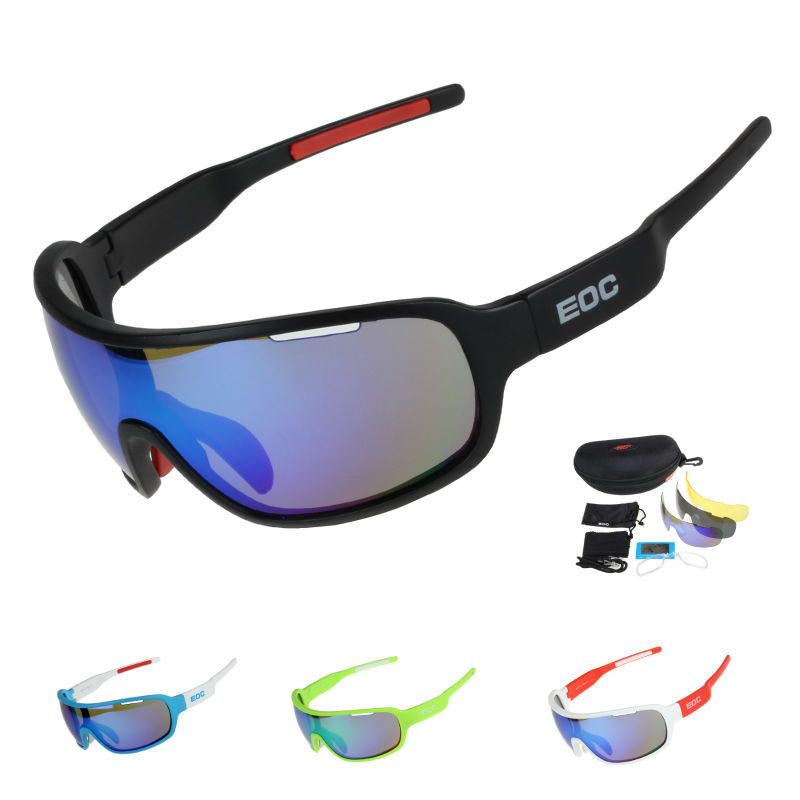 COMAXSUN Polarisées Vélo Lunettes Vélo Équitation Protection Lunettes Conduite Pêche Sports de Plein Air lunettes de Soleil UV 400 3 Lentille