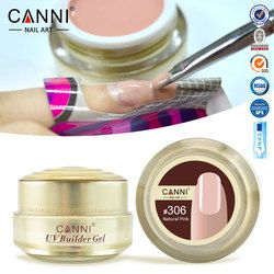 #50951 Free Shipping Thick Builder Gel Nails Pink CANNI 15ml Finger Nail Extension UV Gel Nail Cover Pink Camouflage UV Gel
