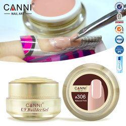 #50951 Livraison Gratuite Épais Constructeur Ongles en Gel Rose CANNI 15 ml Ongle Extension UV Gel Nail Couverture Rose Camouflage UV Gel