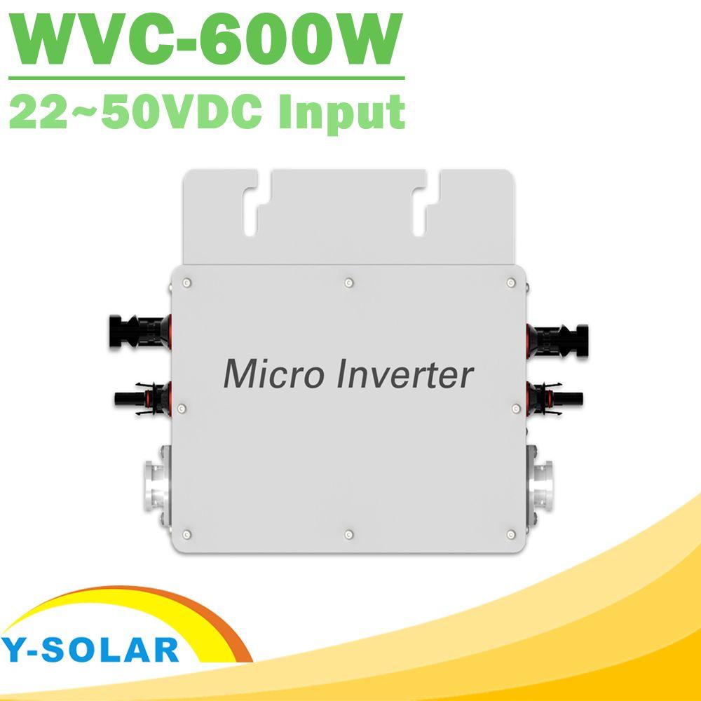 Waterproof 600W Pure Sine Wave Inverter 110V 220V On Grid Tie Micro Inverter MPPT High Efficiency Reverse Power Transmission