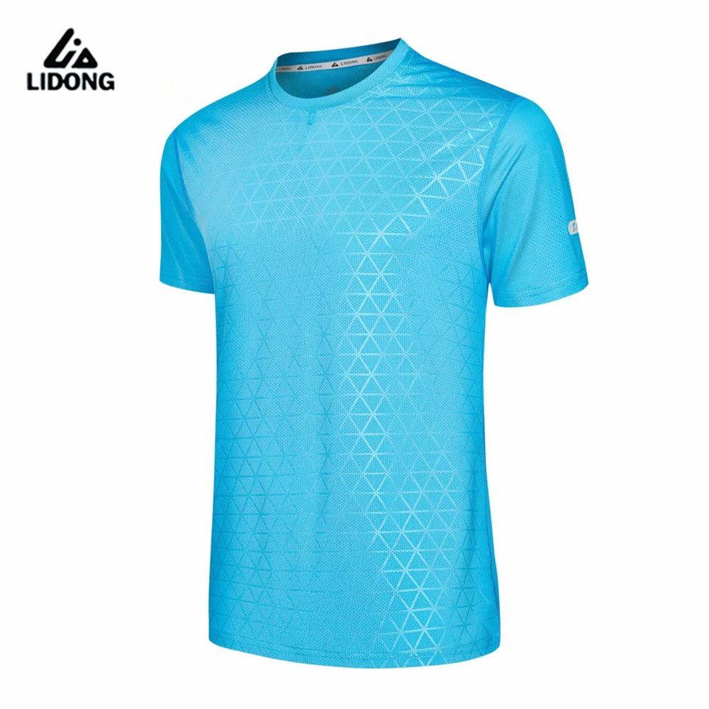 2017 männer Sportswear Laufen Männer Sport T-shirt Outdoor-jogging-schuhe Tops Gym Lose Ausbildung Dry Fit Kurzarm Uniform frauen