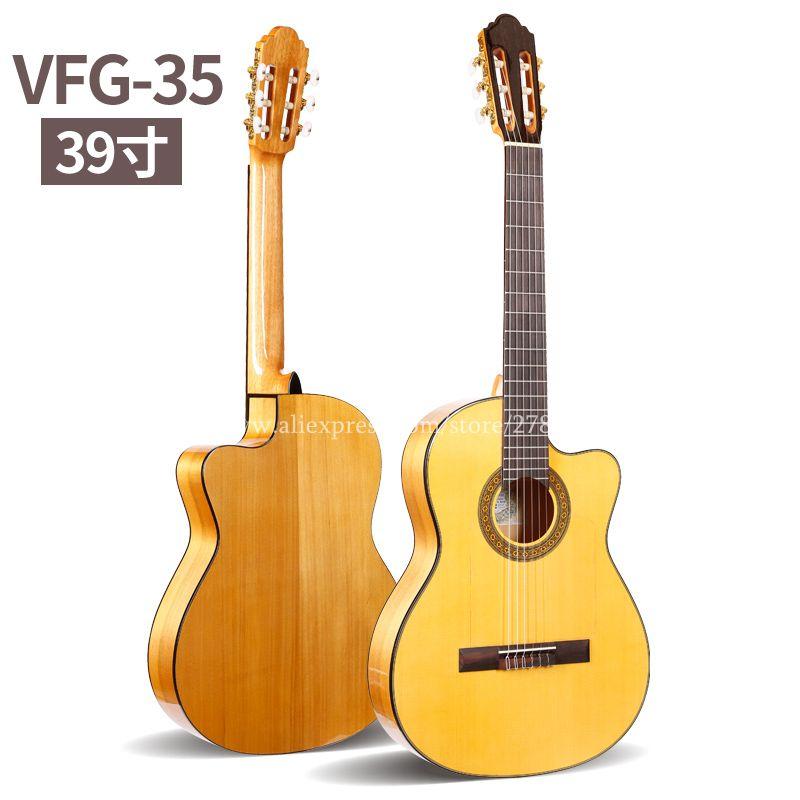 Professionelle Handgemachte Cutaway 39 zoll Elektrische Akustische Flamenco gitarre Mit Fichte/Aguadze Körper, Klassische gitarre mit pickup