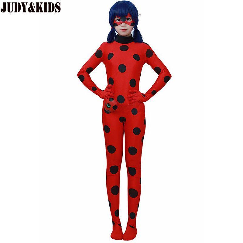 Детская Комплекты Lady Bug Костюмы для костюмированной вечеринки Божья коровка Хэллоуин для рождественской вечеринки костюм дети цельный кос...