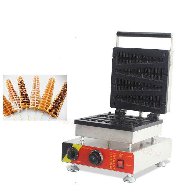 220 V/110 V elektrische edelstahl kommerzielle nutzung fisch lolly waffeleisen maschine waffel auf einem stock küche appliance1500W