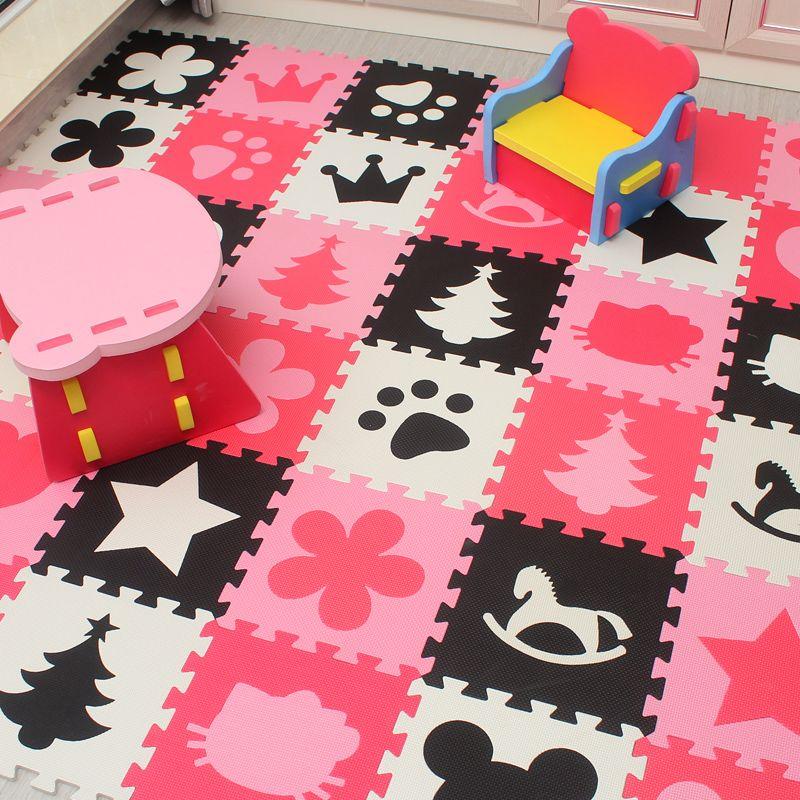 Marjinaa bébé EVA De Jeu En Mousse Puzzle Mat/20 ou 30/lot en Exercice Tuiles Tapis De Sol Tapis pour enfant, 1 cm Épais