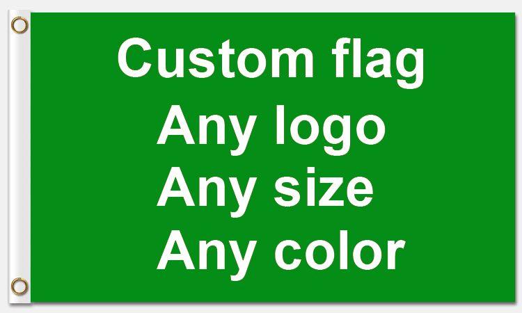 Gute Service 3x5ft Custom flagge 90*150cm Kunden-made flagge Mit Weiß Hülse Metall Ösen