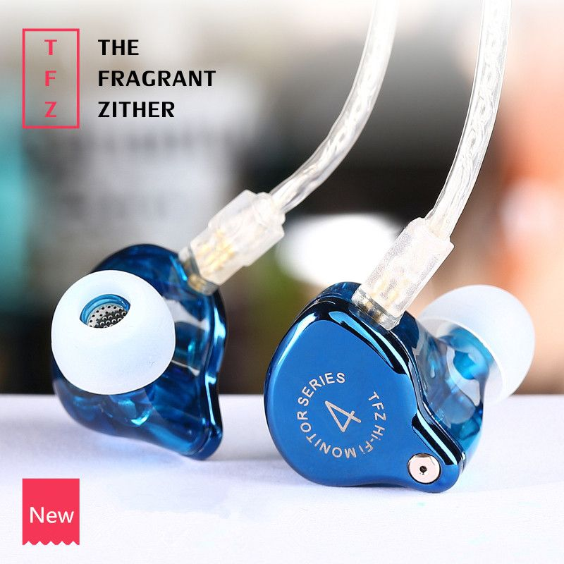 TFZ SERIES 4 In Ear Earphone The Fragrant Zither Monitor HiFi Headset Customized 9mm Dynamic DJ Earphones