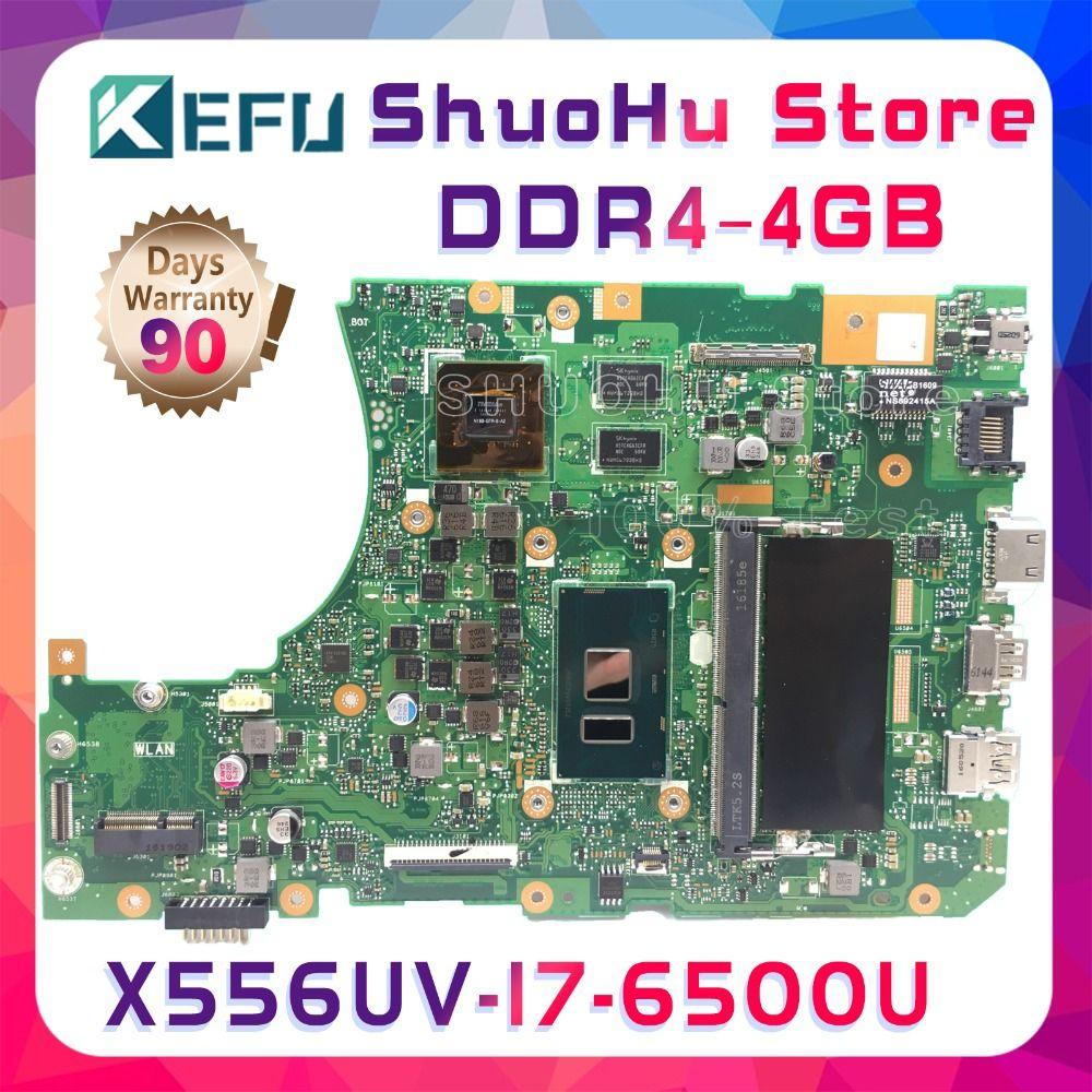 SHELI A556U For ASUS X556UV X556UQ X556UR X556UB I7 4GB FL5900U FL5800U laptop motherboard tested 100% work original mainboard