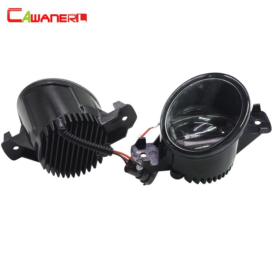 Cawanerl 2 Pieces Car LED Fog Light Daytime Running Lamp Accessories For Nissan March Geniss Rogue NV400 NV3500 Ma Chi Urvan
