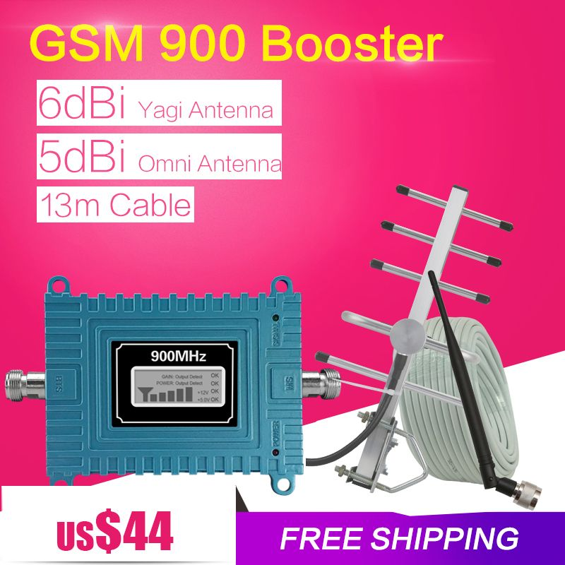 GSM Signal Booster 900 MHz Mini 65dB LCD Display GSM Cellular Signal Repeater GSM 900Mhz Cell Phone Amplifier For Home Office