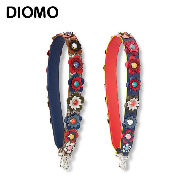 DIOMO Bolso correa correa usted bolsa de accesorios bolso de la manera colorida flor correas para las mujeres