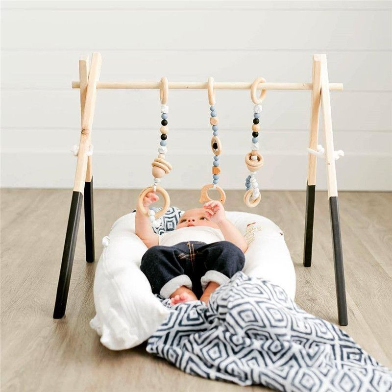 Nordic Wooden Baby Gym With Accessories & Play Gym Toy Nursery Decor Sensory Toy Accessories Kid's Room Decor Photography Props