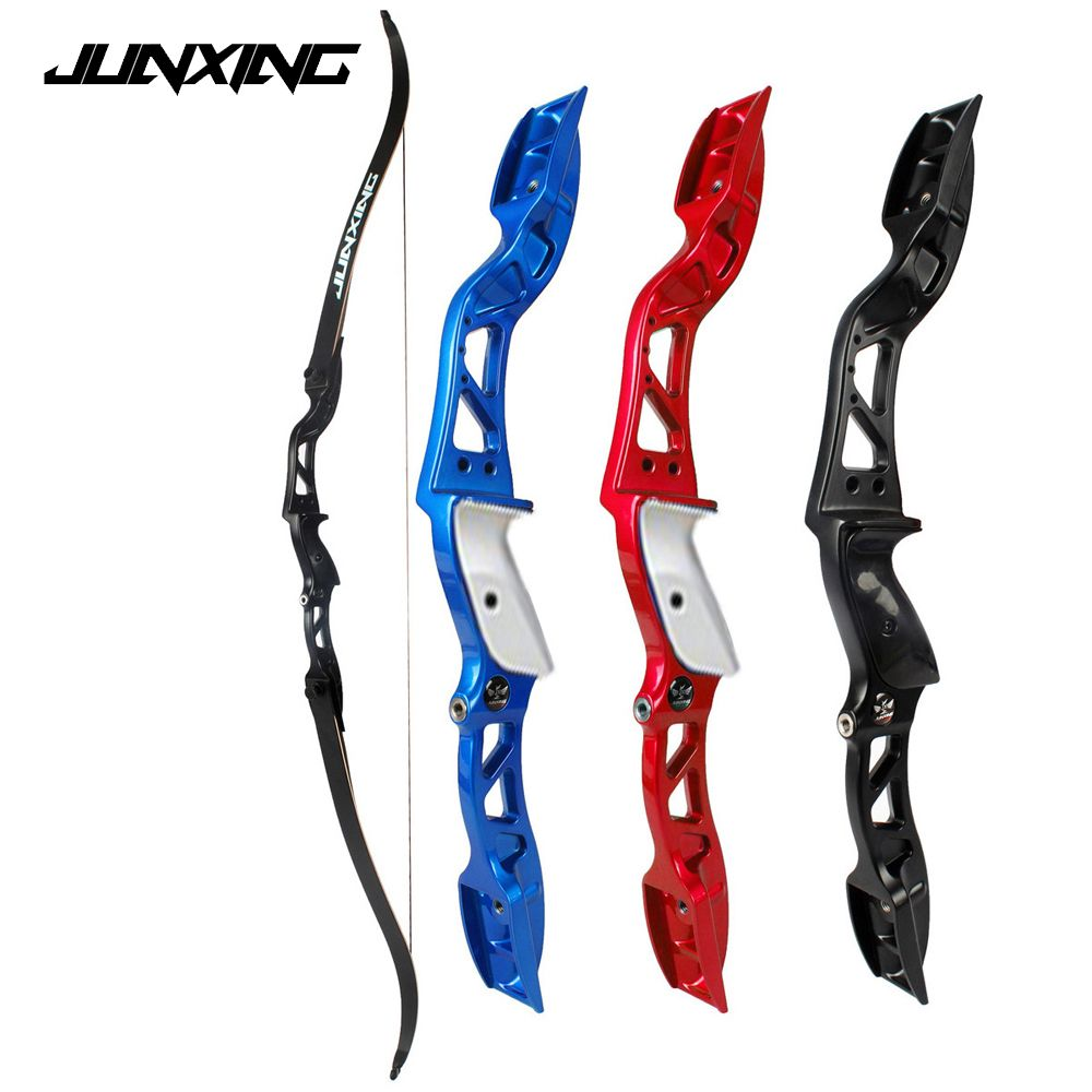 3 Color 20-36Lbs American Hunting Bow Recurve Bow Black/Red/Blue Archery with Sight and Arrow Rest for Outdoor Hunting/Shotting