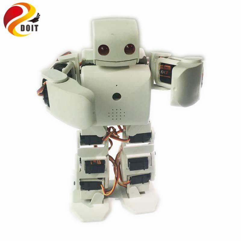 DOIT 18 DOF humanoiden Zweibeiniger Roboter Bildungs-roboter Kit Servo Halterung mit 18 stücke Servo für Dance/Kampf durch ESP8266 diy rc spielzeug