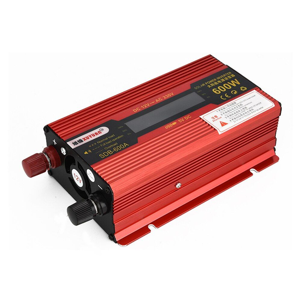XUYUAN 600W DC 12V To AC 230V Solar Power Inverter Car Automotive Power <font><b>Converter</b></font>