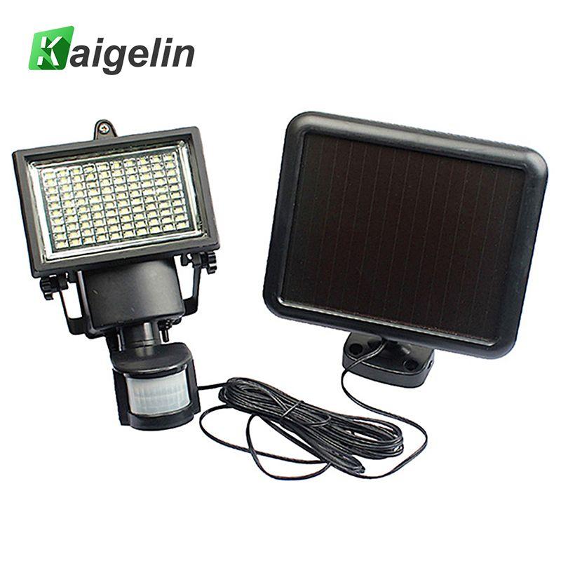 Kaigelin 100 LED Solar Flood Light PIR Motion Sensor Waterproof Solar LED Lamp Outdoor Floodlight Garden Security Spot Light