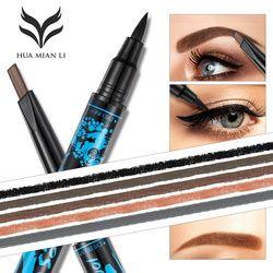 HUAMIANLI band Doulble End Eyebrow  Combination Long-lasting Waterproof Eye Liner Eyebrow Pencil Makeup Cosmetic Tools