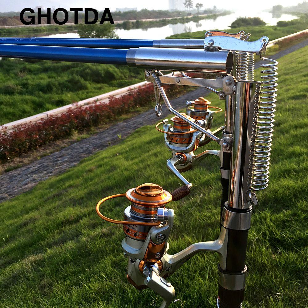 1.8 m 2.1 m 2.4 m 2.7 m mer rivière lac en acier inoxydable canne à pêche automatique sans bobine