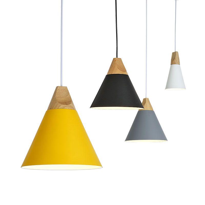 Vintage Pendant Lights Aluminum Lampshade Lamparas Colgantes For Living Room Pendant Lamp Home Lighting Light Fixtures