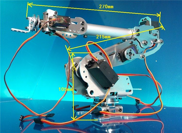 Abb Industrial Robot 798 Mechanical Arm 100% Alloy Manipulator 6-Axis Robot arm Rack with 7 Servos