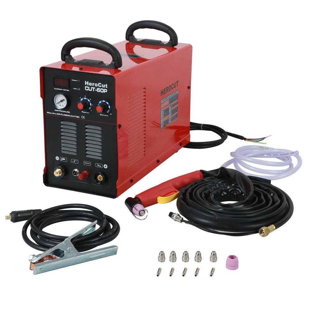 IGBT Pilot Arc HF CUT60P 60Amps DC Air Plasma cutting machine plasma Cutter Cutting Thickness 20mm Clean Cut