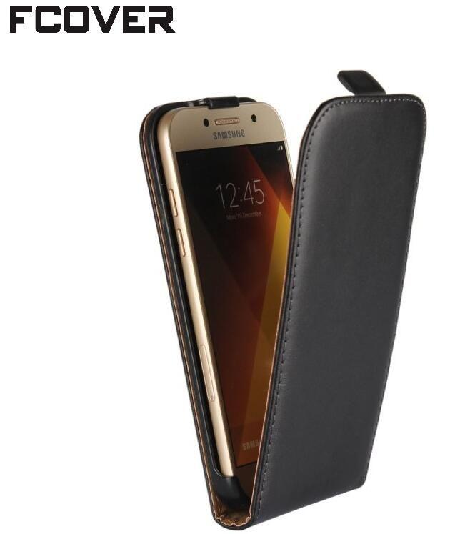 Pour Samsung A3 2017 Flip Cas, Véritable Housse En Cuir Flip Couverture Pour Samsung Galaxy A5 2017/A7 2017 Flip Cas